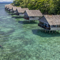 overwater villas Raja Ampat