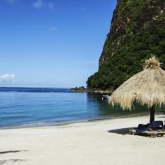 View of a Caribbean Beach