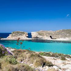 Mediterranean sea from Gozo