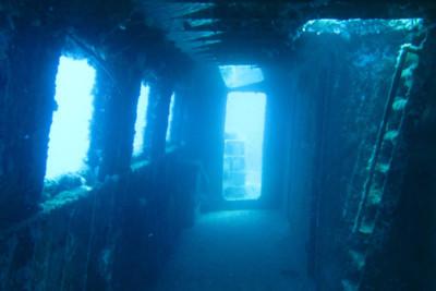 Inside a Shipwreck in Gozo