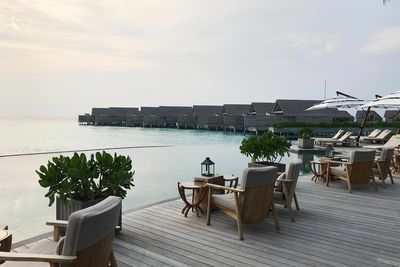over-water fine dining restaurant Maldives