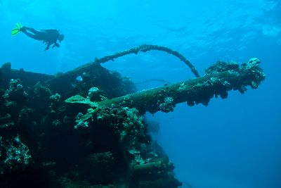 Second World War Wreck Chuuk Lagoon Micronesia