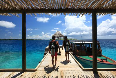 diving at Six Senses Laamu