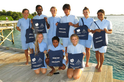Maldives marine conservation team at Six Senses Laamu