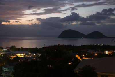 evening view in Dominica