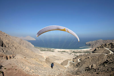 paragliding hajar mountains oman