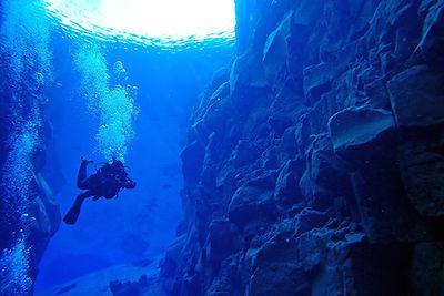 diving Silfra, Iceland