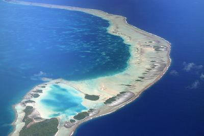 Rangiroa aerial, French Polynesia