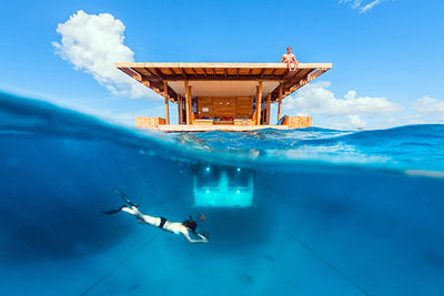 Manta Resort's Underwater Room, Tanzania