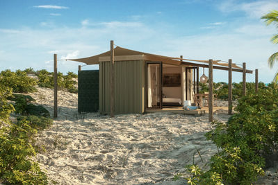 Eco accommodation in Cosmoledo