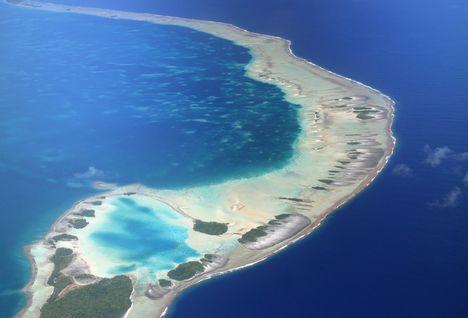 Aerial Rangiroa Atoll
