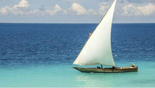 Dhow sailing, Zanzibar