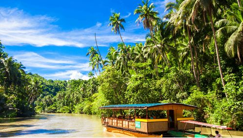 Boat on the Loboc river, Bohol Island