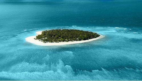 Fiji island aerial