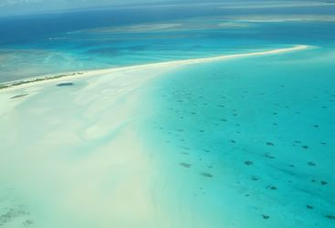 sandbank in Mozambique