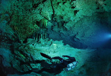 cave in mexico underwater