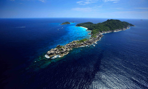 Aerial of Similan Island National Park, Western Thailand