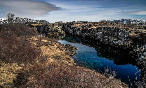 The silfra fissure, Iceland