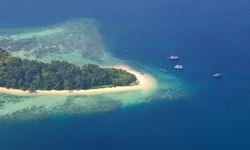 Aerial of the Andaman Islands