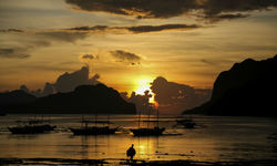 Sunset at El Nido, Philippines