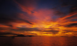 Sunset over the ocean, Papua New Guinea