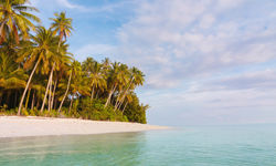 Isolated Beach in Papua New Guinea