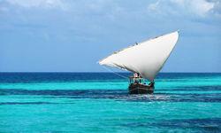 Traditional dhoni sailing in Tanzania