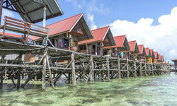 Floating Resort on Mabul Island