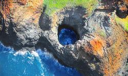 Volcanic rock aerial, Hawaii