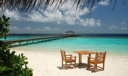 Table on beach, Baa Atoll