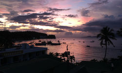 Sunset over the water in Sabang