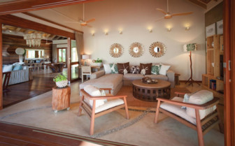 Picture of a beach villa lounge, Desroches Island Resort