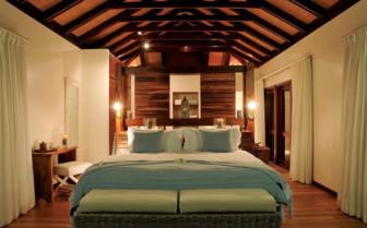 Picture of a beach villa bedroom in Desroches Island Resort