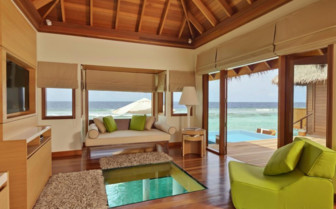 The ocean bungalow at Huvafen Fushi