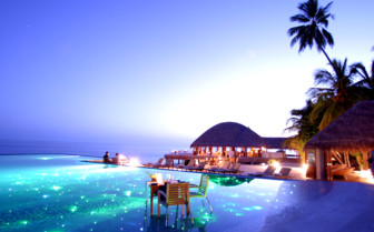 Spectacular dining at Huvafen Fushi, luxury hotel in the Maldives