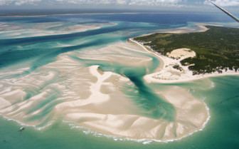Aerial picture of Benguerra Island