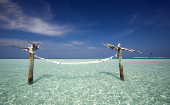 Picture of an Ocean Hammock at Gili Lankanfushi