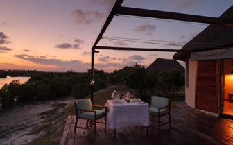 Picture of private dining at Coral Lodge Mozambique