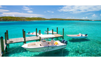 Picture of the boats at Fowl Cay