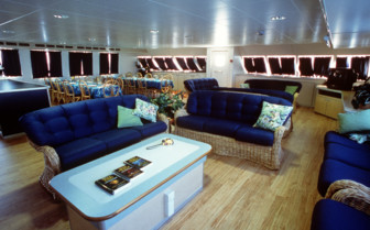 Picture of the main salon on Aquacat