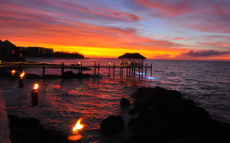 Picture of the Sunset at Compass Point Beach Resort
