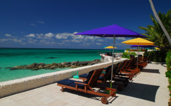 Picture of the sun loungers at Compass Point Beach Resort