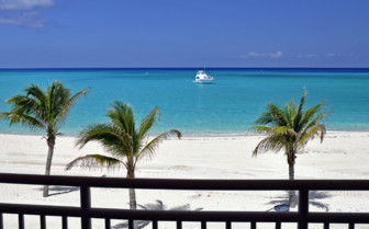 Picture of an oceanfront villa balcomy at Bimini Sands Resort