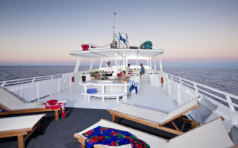Picture of the Sundeck onboard Turks and Caicos Aggressor II