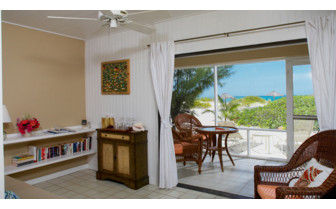 Picture of the bungalow interior at the Meridian Club Pine Cay