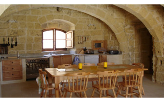 Picture of the kitchen in a private Gozo farmhouse