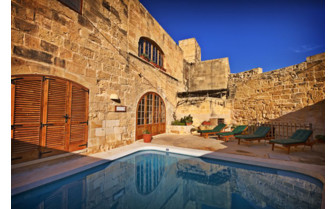 Picture of the pool in a private Gozo farmhouse