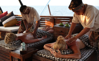 Picture of massage onboard Arenui Liveaboard