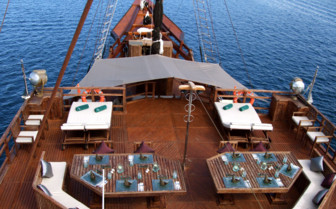Picture of the sky deck on the Arenui Liveaboard