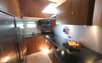 Picture of the kitchen onboard SY Asia